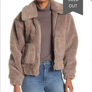 Avec Les Filles faux fur bomber jacket coat